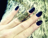 Knuckle Ring Midi Ring Gothic Filigree Antique Gold Tone