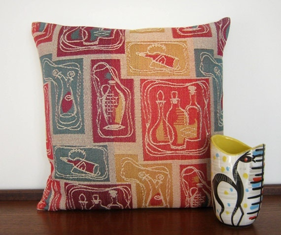 Retro Pillow Cover 60s Cushion SALE