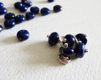 Add a Charm - Lapis Lazuli 6 mm Gemstone Accent Smooth Rondel