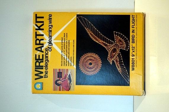 Vintage 70s Wire Art Kit Craft Supplies Birds Diy By