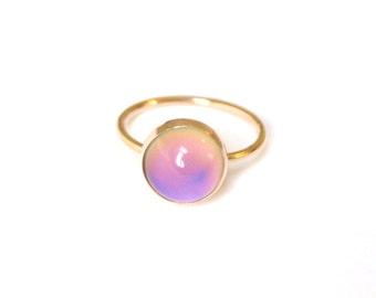 Mood Ring, 14kt Gold, Medium
