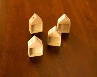 Unfinished NEAT pendant blanks - Natural Maple Wood - 19 mm - (H419-Mp) - Set of 4