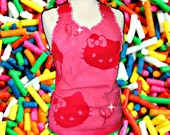 Womens ButterCream Halter Size Small/Medium Pink Red Love
