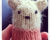knitted baby bear support homeless children