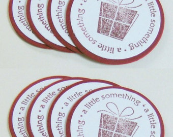Gift TAG STICKER / Party Favor Business Card Inserts / SET of 8