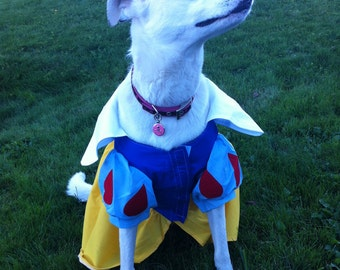 Snow White Pet Costume XS to XL