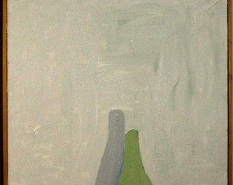 Bottle Still Life original oil painting 12 in X 30 in
