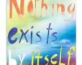 Nothing exist by itself - Inspirational Postcard Set