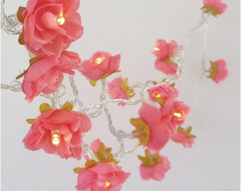 Rose flower rose flower lights pumpkin rambling rose fairy lights flower string by pamelaangus mightylinksfo