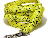 """XS Leash - Yellow Bandana - 3/8"""" wide - 4 or 6 Feet long for Cats and Small Dogs"""