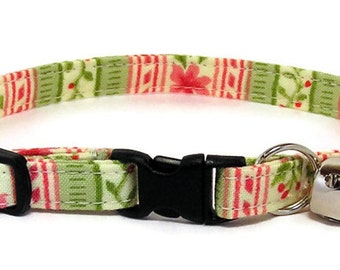 Cat Collar - Spring in Bloom - Breakaway Safety Cute Fancy Cat Kitten Collar