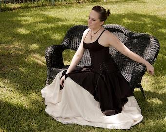 Black Linen Pixie Skirt Renaissance Halloween Costume