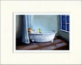 "Evie Anderson Pembroke Welsh Corgi Dog Art SIGNED PRINT ""Alone At Last""  (signed, matted)"
