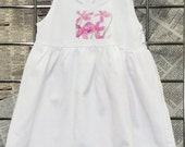 WHOLESALE BLANKS - Sundress BLANK for Infants and Toddlers. Girl Summer Dress Baby Cotton White and Jewel Tones