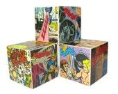 Geeky Comic Book Decor Comic Decorative Blocks Geekery Man Office Desk Accessory