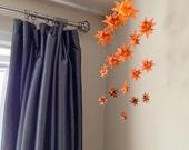Baby Crib Mobile Hanging Origami Stars -'Milky Way Major' Ombre Orange