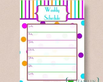 Printable Weekly Planner - Printable Planner - Schedule Organizer - Instant Download | Circus