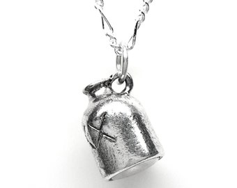 Sterling Silver Little Brown Jug Moonshine 3D Pendant Charm Customize no. 2195