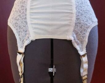 Vintage 1950's Off White Garter Belt Waist Sz 26 Jubilee