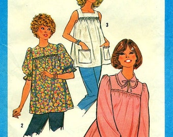 Simplicity 8606 - Maternity Pullover Blouses circa 1978