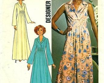 Simplicity 7794 LOOK SLIMMER PATTERN Designer Fashion Dress circa 1976