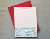 10 Nantucket Notes Personalized Set Ocean Inspired Nautical Note Cards