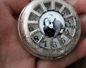 Personalized Custom Pocket Watch with Photo - Silver - Vintage Wedding, Christmas, Groomsmen, Dad, Memorial - Customized with Your Image