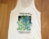 Forget me not flower seed packet Tank Unisex (mens womens) Tee Tank White