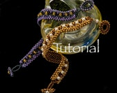 Seed Bead-Woven Bracelet Tutorial Channel Crossing Digital Download