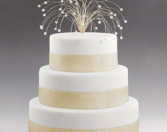 wedding cake toppers sparklers 50th anniversary cake topper etsy 26597