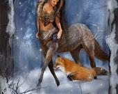Art Retirement SALE / Centaur / Fox /  Fantasy Art / Mythology / Pagan Art/ Wiccan Art / Mythical Creatures