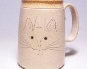 Cat Face Pottery  Mega Coffee Mug Limited Series 223 (microwave safe) 24 ounce