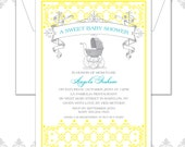 Custom order Vintage Carriage Baby cards, Baby Carriage Announcement, Vintage Baby Carriage Invite, Vintage Baby Shower, Vintage Show