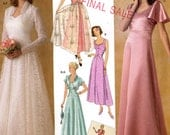 30s Wedding Gown and capelet shrug sewing pattern Simplicity 4270 1930s Retro Sewing