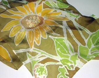 Sunflower Silk Scarf