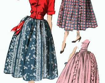 Vintage 1950s Cropped Jacket and Skirt Sewing Pattern Advance 5827 Womens Glamorous 50s Sewing Pattern  Size 12