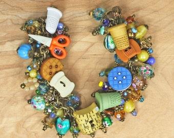 When I am Sewing Charm Bracelet