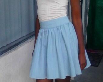 Light Blue High Waisted Skirt | Jill Dress