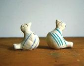 Vintage Clay Bird Whistles Pottery Figurines Brazilian Primitive Toys Rustic Decor Ornaments Stocking Stuffers Folk Art Terracotta Animals