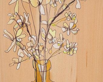 Soft White Bunch Canvas Print by Jennifer Mercede 24X12