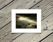 """Black Cat Wall Decor, Animal Photo, Black Cat Photography, Landscape, Nature Picture- 5x7 inch Print Matted to 8x10 inches - """"Bewitched"""""""