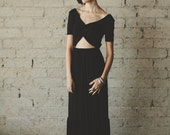 Bohemian Floor Length Half Sleeve Jersey Maxi with Keyhole Cutout Party Dress - Cleo by Ouma