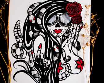 LA MUERTE // 8x10 Death Fine Art Print