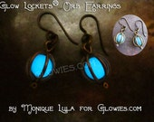 Glow Lockets® Orb Earrings Bronze Antique Brass