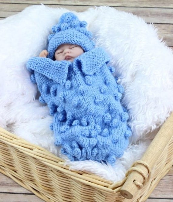 Preemie Baby Knitting Patterns : Baby Knitting Pattern Preemie Bobble Cocoon Knitting Pattern 2 Sizes DIGITAL ...