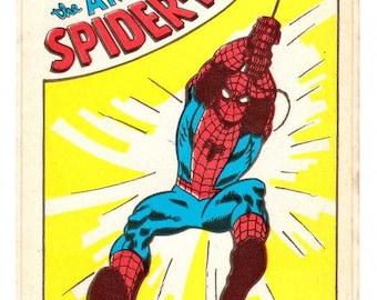 The Amazing Spiderman Large Sticker 70's Vintage Marvel Comics
