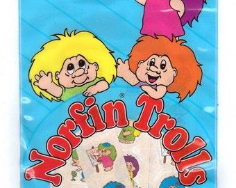 75 Norfin Trolls Vinyl Sticker Pouch STILL SEALED by Pace