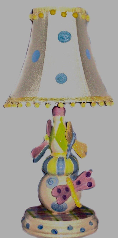 Dragonfly lamp whimsical nursery decor kid 39 s lamp for Whimsical decor