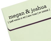 "CUSTOM ADDRESS STAMP - Eco Friendly & self inking, gifts for wedding, housewarming, etsy labels, return address - ""Names11"""