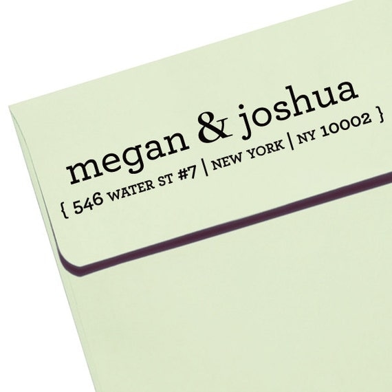 "CUSTOM ADDRESS STAMP - Eco Friendly & self inking, gifts for wedding, housewarming, etsy labels, return address - ""Names11"""